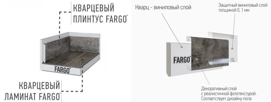 Плинтус в цвет SPC Fargo