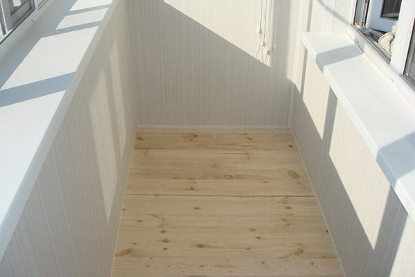 Укладка ПВХ плитки на лоджии или балконе